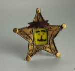Deputy Pete, fused glass by Diane C. Taylor