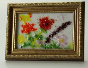 Les Fleurs No. 1, fused glass by Diane C. Taylor